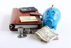 保存退休概念的资金 免版税库存图片
