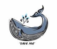 保存鲸鱼 免版税库存照片