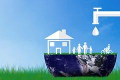保存水概念,世界水天 免版税库存图片