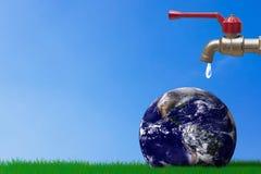保存水概念,世界水天 库存图片