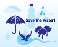 保存水的概念 向量例证