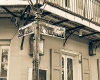 保守主义者路牌新奥尔良,路易斯安那,美国 图库摄影