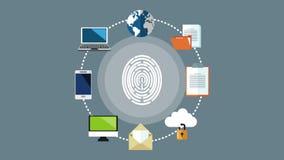 保安系统概念HD动画 向量例证
