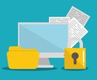 保安系统和技术 库存例证