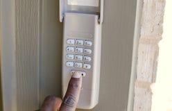 保安系统警报键盘 免版税库存照片