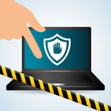 保安系统设计、警告和技术概念 免版税库存图片