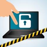 保安系统设计、警告和技术概念 免版税库存照片