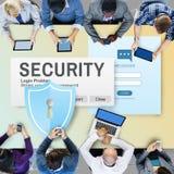 保安系统通入密码数据网监视Concep 免版税图库摄影