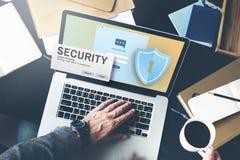 保安系统通入密码数据网监视Concep 免版税库存照片