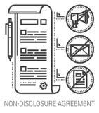保密协定线象 免版税图库摄影
