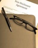 保密协定 免版税库存图片