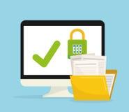 保密性和保安系统图表象 库存例证