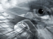 保密通信 向量例证