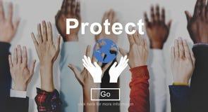 保护不伤环境的保存概念 皇族释放例证