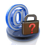 保护互联网数据 库存照片