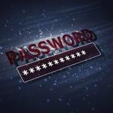 保护安全密码 免版税库存图片