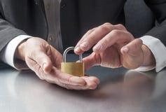 保护您的与保安系统的公司 免版税库存图片