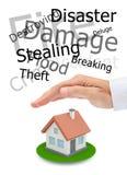 保护您的房地产 免版税库存图片