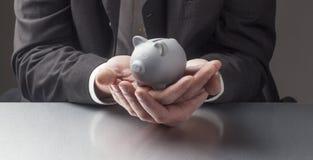保护您的退休金钱 库存图片