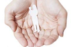 保护的家庭 免版税库存图片