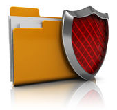 保护的文件夹 免版税库存图片