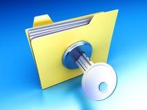 保护的文件夹 皇族释放例证