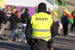 保护示范的德国警察 库存照片