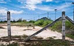 保护私有财产的篱芭 免版税库存照片