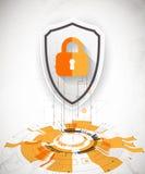 保护背景 技术安全,输入并且解码 皇族释放例证