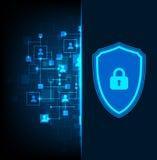 保护背景 技术安全,输入并且解码 库存例证