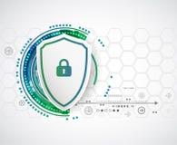 保护背景 技术安全,输入并且解码 向量例证