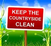 保持乡下干净的手段环境未触动过和自然 免版税库存照片