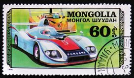 保时捷赛车,小汽车赛serie,大约1978年 库存照片