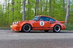 1975年保时捷911在ADAC符腾堡历史的Rallye的RSR 2013年 免版税库存照片