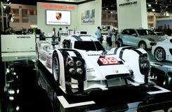 保时捷919杂种,体育原型赛车 图库摄影