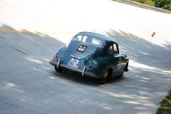 1953年保时捷356 1500超级在Mille Miglia 免版税库存照片