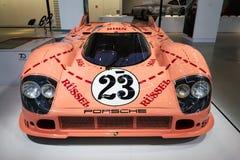 保时捷917 20辆从起绰号砰猪的1971的小轿车Sau赛车 库存照片