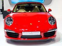 保时捷911 Carrera S敞蓬车汽车。 库存照片