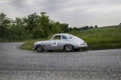 保时捷356 1500 Coupé 1953年 免版税库存照片
