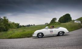 保时捷356 1500 Speedster 1955年 免版税库存照片