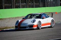 保时捷GT3R意大利人Carrera杯2015年 免版税库存图片