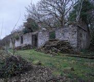 保泰松的被放弃的轮渡房子 免版税图库摄影