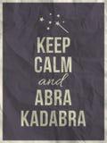 保留在被弄皱的纸纹理的镇静abra cadabra行情 库存照片