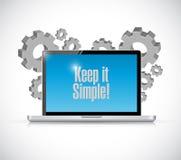 保留它简单的技术电子标志 免版税图库摄影