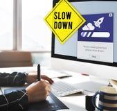 保留安静减少速度放松减速概念 库存图片