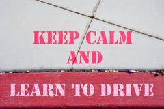 保留安静和learnd驾驶 图库摄影