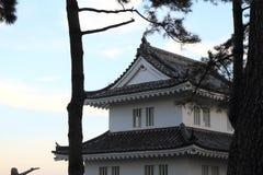 保留岛原市城堡在长崎 库存图片