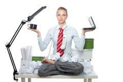 保留工作的平衡喜悦 免版税库存照片