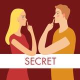 保留秘密的男人和妇女 皇族释放例证