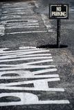 保留签署街道 免版税库存图片